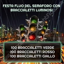 Festa Fluo del Semaforo con Braccialetti Luminosi