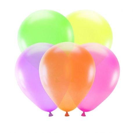 5 Palloncini Colori Neon